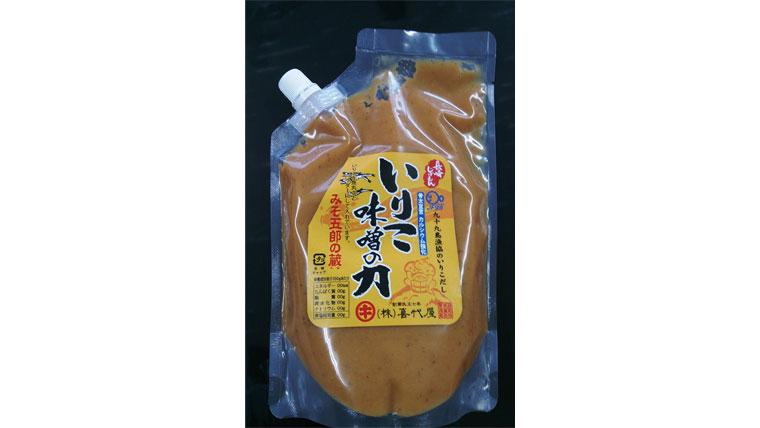 九十九島産いりこを使ったいりこ出汁入り味噌(ゼリータイプ)の商品開発・販路開拓
